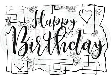 Woodware Craft - Clear Stamp - Birthday Strips