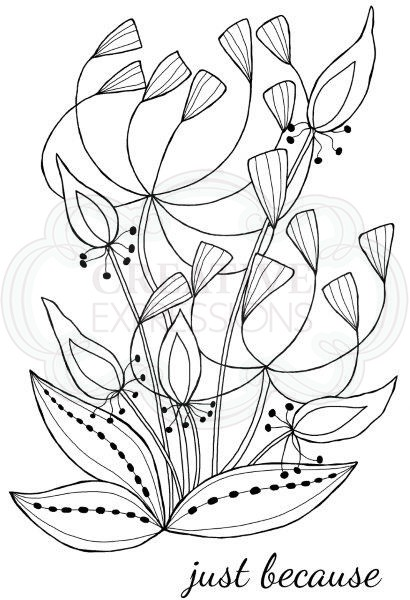 Woodware Craft - Clear Stamp - Bold Blooms - Heather