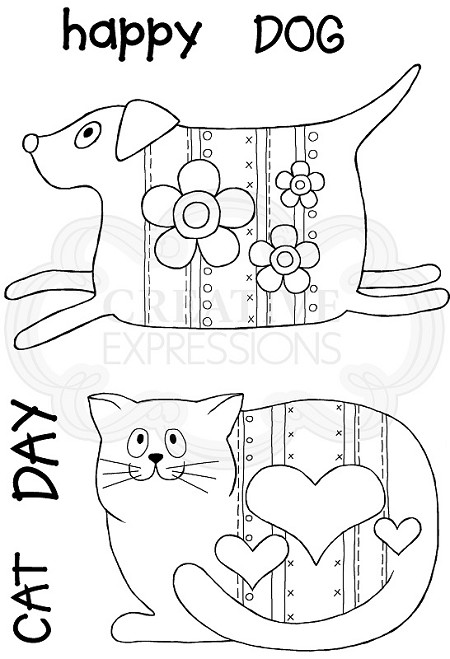 Woodware Craft - Clear Stamp - Pup and Mog