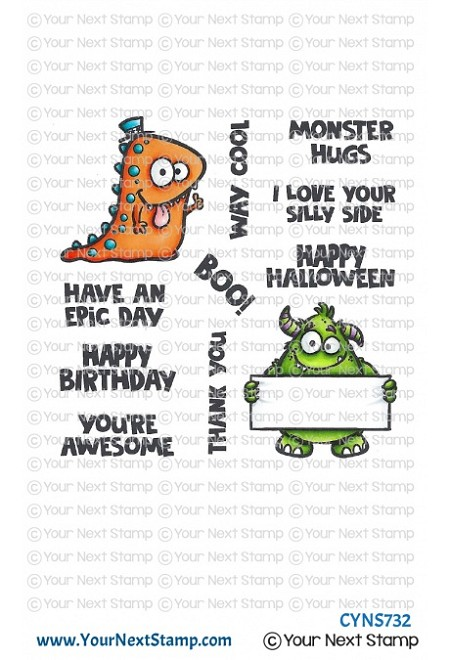Your Next Stamp - Clear Stamp - Way Cool Monsters