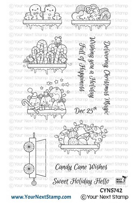 Your Next Stamp - Clear Stamp - Santa Express Train Carts Two