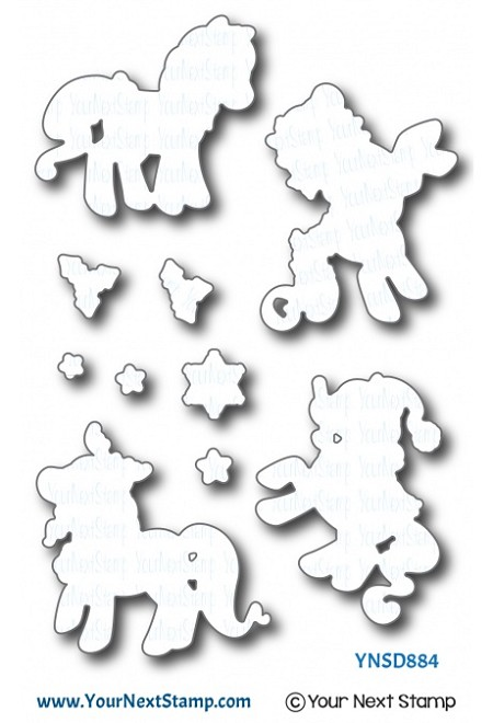 Your Next Stamp - Dies - Holiday Ponies
