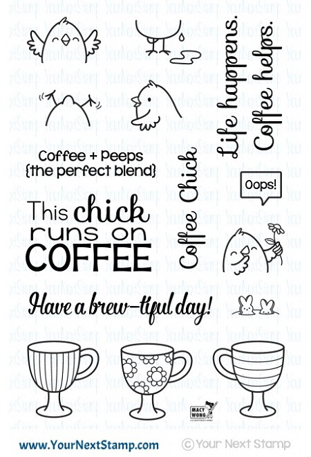 Your Next Stamp - Clear Stamp - Coffee Chick