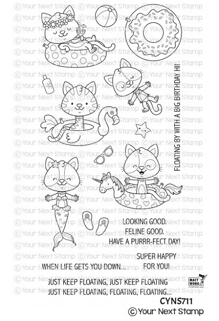 Your Next Stamp - Clear Stamp - Just Keep Floating