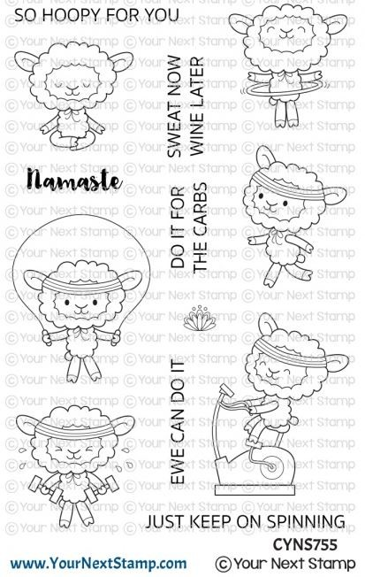Your Next Stamp - Clear Stamp - Ewe Can Do It