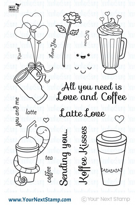 Your Next Stamp - Clear Stamp - Love and Coffee