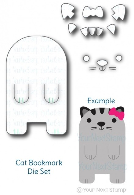 Your Next Stamp - Dies - Cute Cat Bookmark