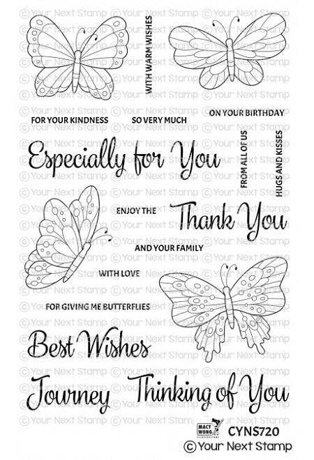 Your Next Stamp - Clear Stamp - Beautiful Butterflies