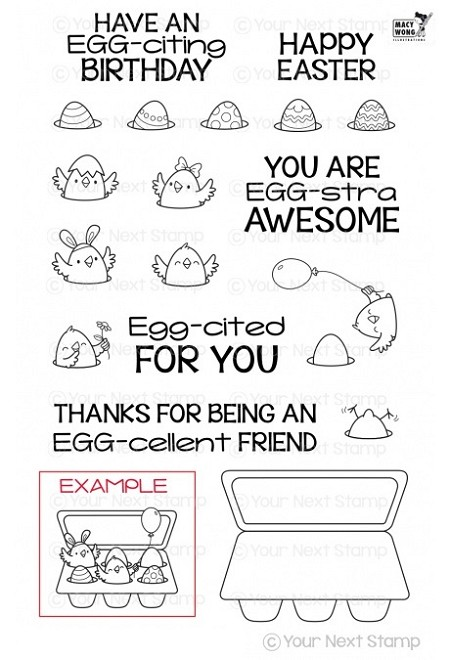 Your Next Stamp - Clear Stamp - So Egg-citing