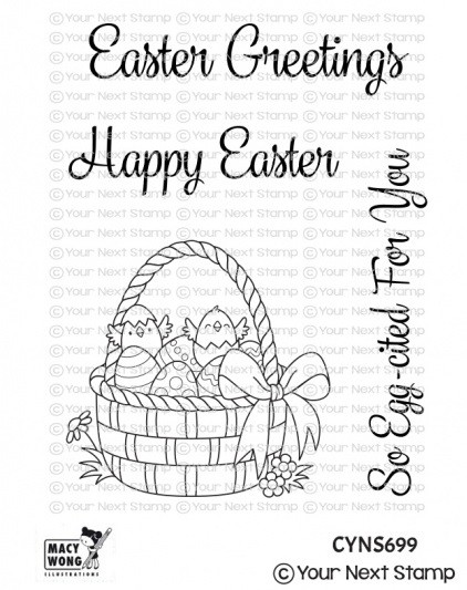 Your Next Stamp - Clear Stamp - Easter Basket