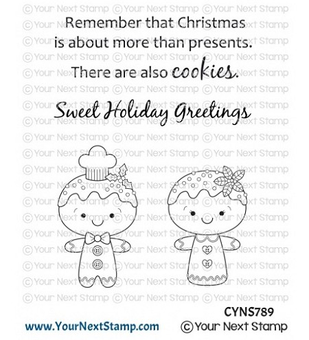 Your Next Stamp - Clear Stamp - Sweet Holiday Cookies