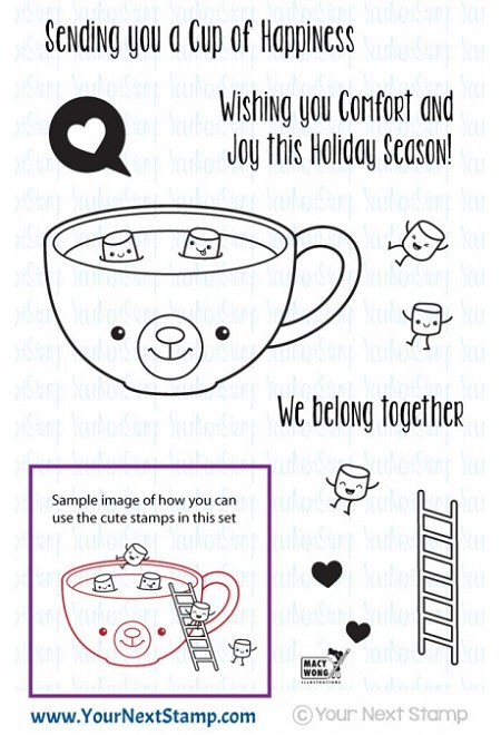 Your Next Stamp - Clear Stamp - Cup of Happiness