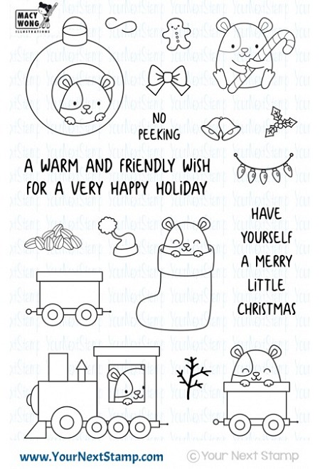 Your Next Stamp - Clear Stamp - Hammie Holiday Fun