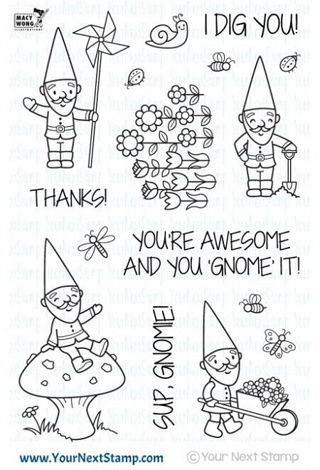 Your Next Stamp - Clear Stamp - Cute Gnomies