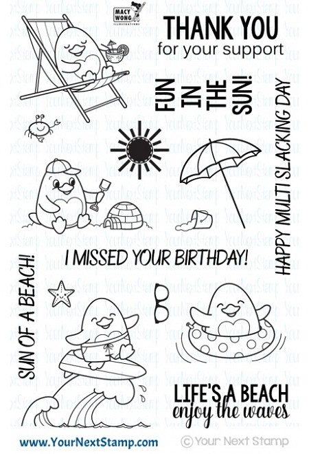 Your Next Stamp - Clear Stamp - Waddles Beach Fun