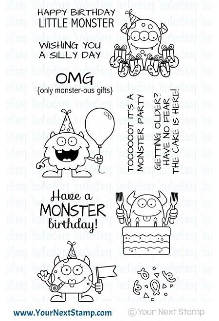 Your Next Stamp - Clear Stamp - Silly Birthday Monsters