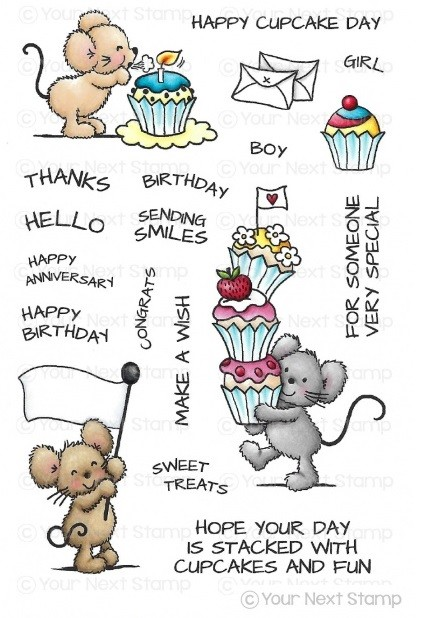 Your Next Stamp - Clear Stamp - Cupcake Day