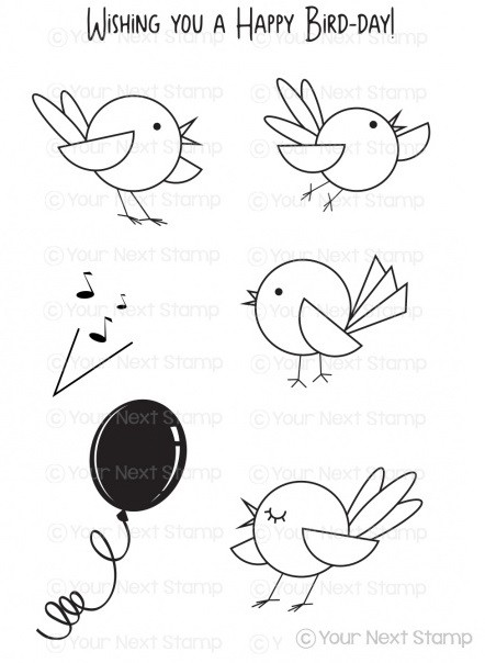 Your Next Stamp - Clear Stamp - Happy Bird-Day