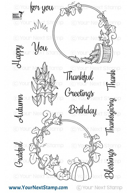 Your Next Stamp - Clear Stamp - Autumn Wreaths