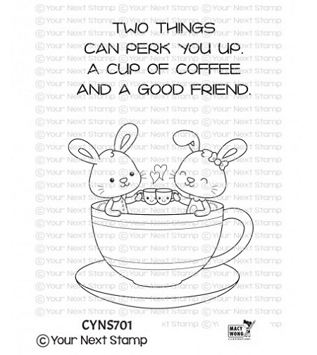Your Next Stamp - Clear Stamp - Coffee Cuties